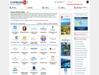 cyprusfamilyhotels.com screenshot