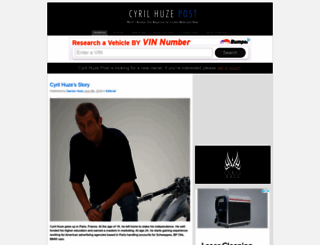 cyrilhuzeblog.com screenshot