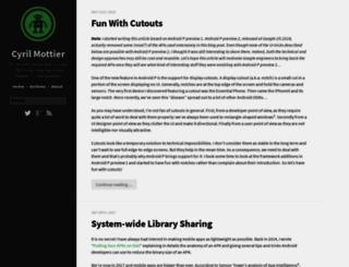 cyrilmottier.com screenshot
