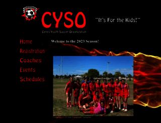 cysosoccer.com screenshot