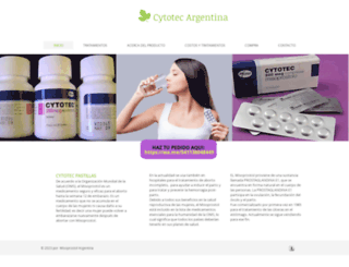 cytotecargentina.com screenshot