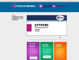 cytotecvenezuela.co.ve screenshot