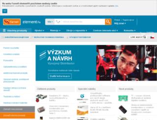 cz.farnell.com screenshot