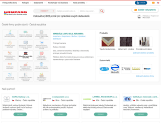 cz.kompass.com screenshot