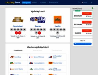 cz.lotterypros.com screenshot