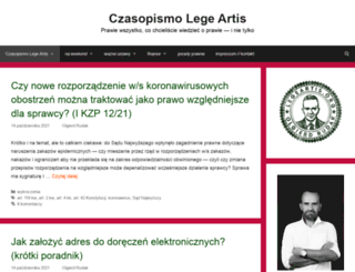 czasopismo.legeartis.org screenshot
