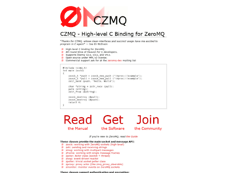czmq.zeromq.org screenshot