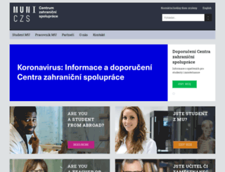czs.muni.cz screenshot
