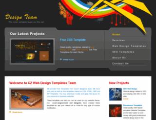 czwebdesigntemplates.com screenshot