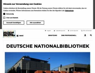 d-nb.de screenshot