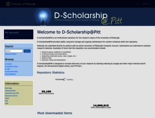d-scholarship.pitt.edu screenshot