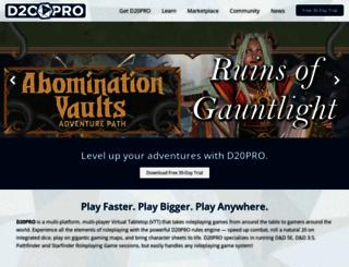 d20pro.com screenshot
