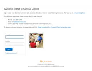 d2l.canisius.edu screenshot