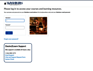 d2l.washburn.edu screenshot
