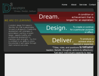 d3learning.com screenshot