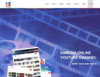 d4media.in screenshot