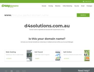 d4solutions.com.au screenshot
