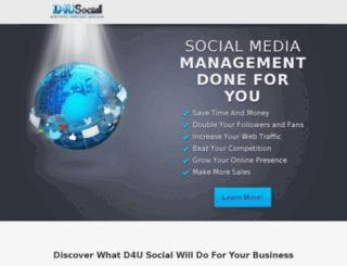 d4usocial.com screenshot