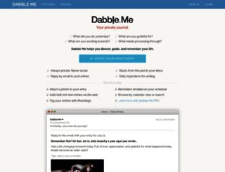 dabble.me screenshot