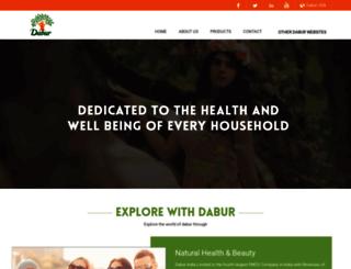 dabur-usa.com screenshot
