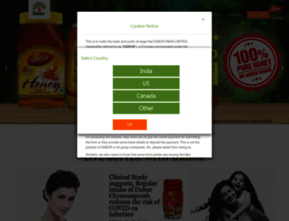 dabur.com screenshot