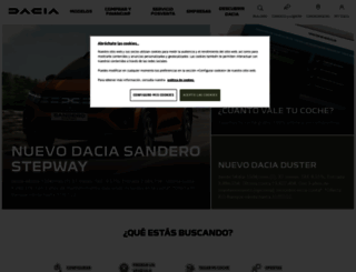 dacia.es screenshot
