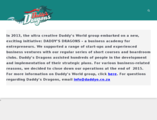daddysdragons.co.za screenshot