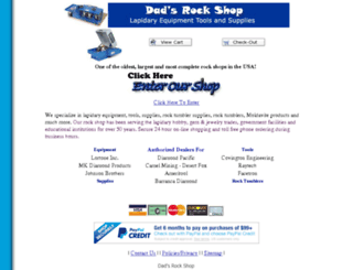 dadsrockshop.com screenshot