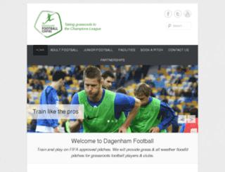 dagenhamfootballcentre.co.uk screenshot
