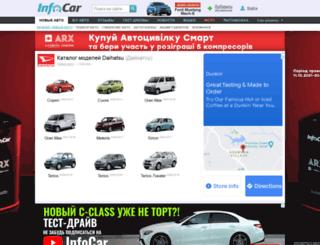 daihatsu.infocar.ua screenshot
