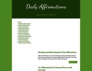 daily-affirmations.com screenshot