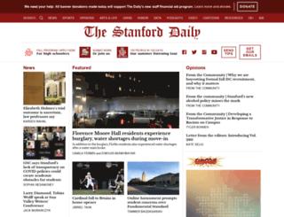 daily.stanford.edu screenshot