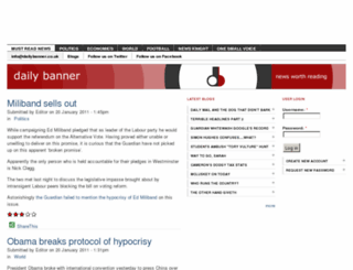 dailybanner.co.uk screenshot
