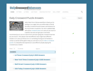 dailycrosswordsolver.com screenshot