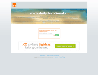 dailydevotionals.co screenshot