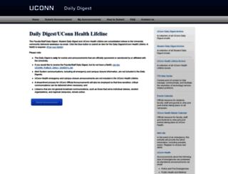 dailydigest.uconn.edu screenshot