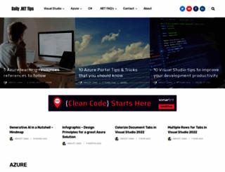 dailydotnettips.com screenshot
