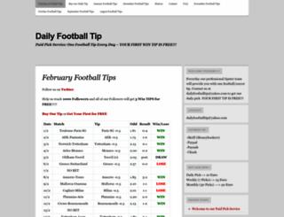 dailyfootballtip.wordpress.com screenshot