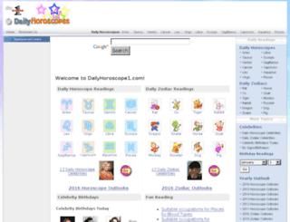dailyhoroscopes1.com screenshot