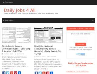 dailyjobs4all.com screenshot