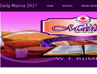 dailymanna.dclmhq.org screenshot