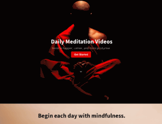 dailymeditation.co screenshot