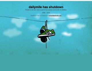 dailymile.com screenshot