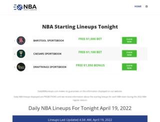 dailynbalineups.com screenshot