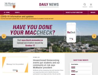 dailynews.mcmaster.ca screenshot