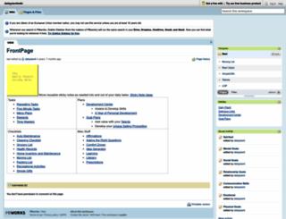 dailyplanitwiki.pbworks.com screenshot