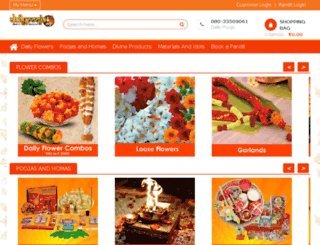 dailypooja.sendmygift.com screenshot