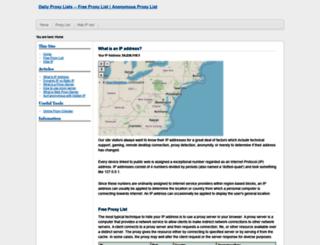 dailyproxylists.com screenshot