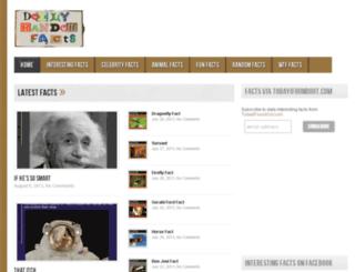 dailyrandomfacts.com screenshot