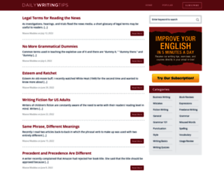 dailywritingtips.com screenshot
